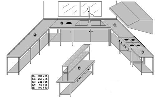 Pin planos restaurantes genuardis portal on pinterest for Planos de cocina de restaurante con medidas