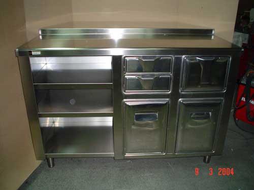 Mobiliario de acero inoxidable como mesas trabajo - Alicatar cocina detras muebles ...
